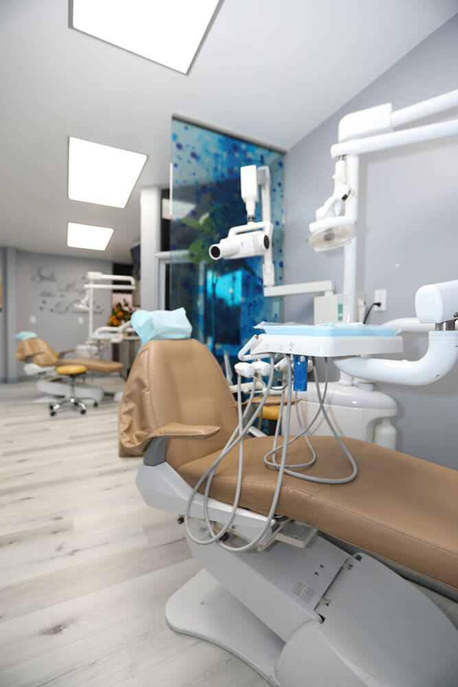 Showing dental office interior