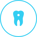 Icon showing dental problems
